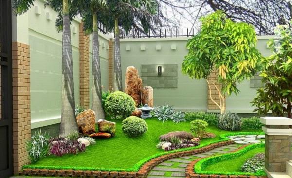 Bố trí sân vườn theo phong thủy mang lại nhiều may mắn cho gia chủ