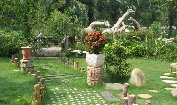 Tránh lát sân vườn bằng đá để tránh khí xấu không may mắn