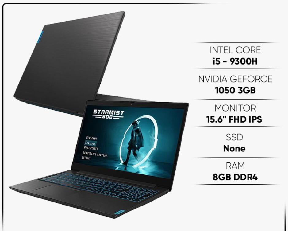 Laptop Lenovo IdeaPad L340-15IRH có bộ xử lý Core i5-9300HF, RAM đến 8GB