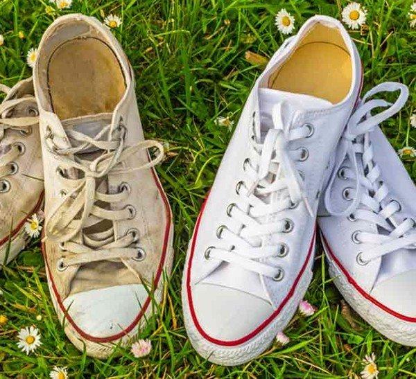 Nên sử dụng cách giặt giầy trắng không bị ố vàng