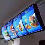 Biển hộp đèn siêu mỏng Quảng cáo tại những nhà hàng, quán café