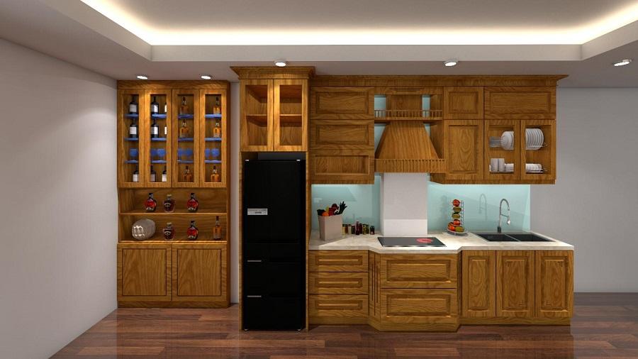 Nội thất bếp tân cổ điển