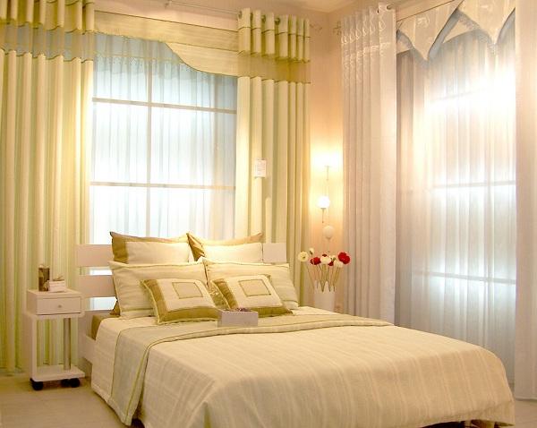 Rèm 2 tấm sang trọng sử dụng cho phòng ngủ
