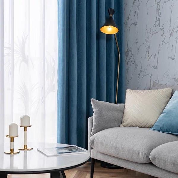 Rèm vải 2 lớp cản sáng tốt cho phòng khách