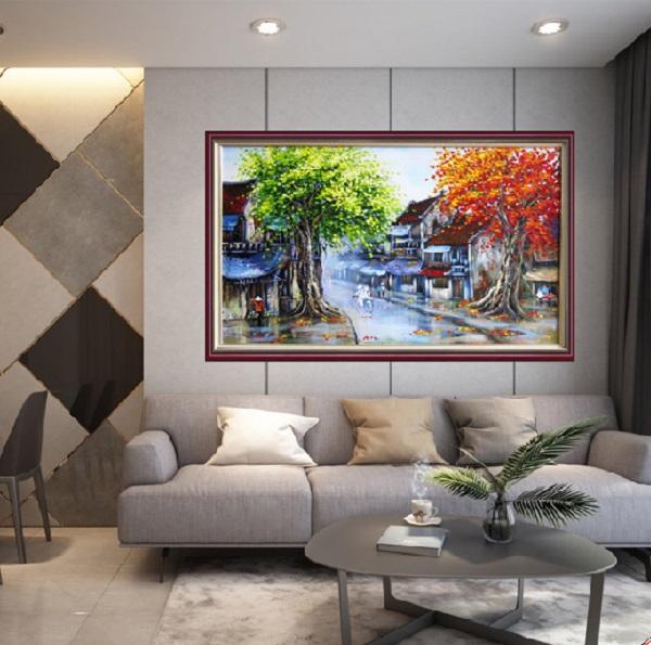 Tranh treo tường trang trí phòng khách sạn đẹp